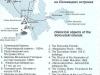Расположение памятников на Соловецких островах