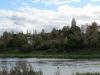 Старица. Вид на Пятницкую церковь и на Борисоглебский собор с противоположного берега Волги